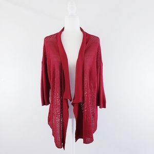 Eileen Fisher Open Knit Draped Cardigan